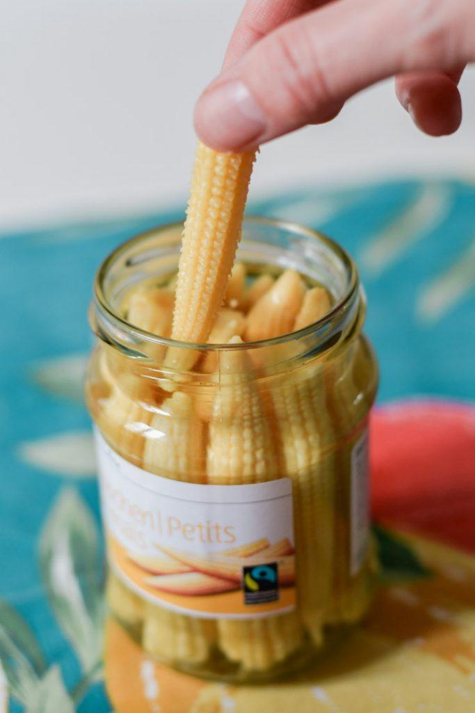 Petits épis de maïs: accompagnement raclette