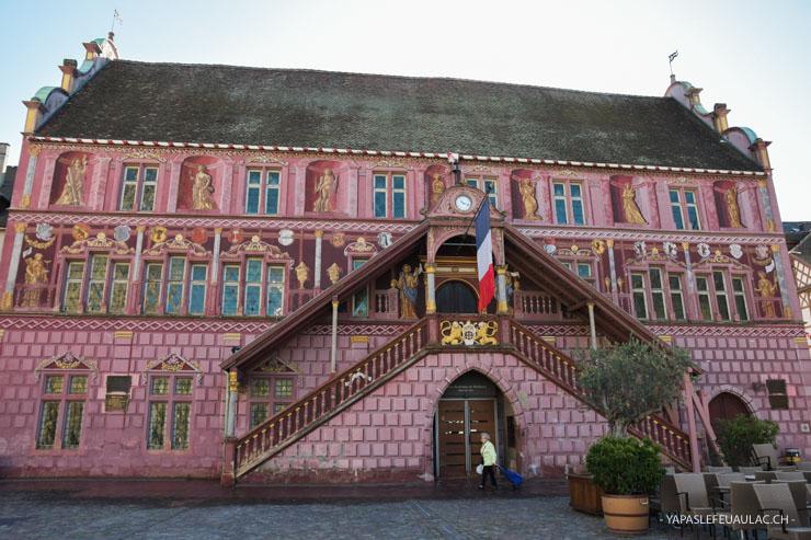 L'ancien hôtel de ville de Mulhouse sur la Place de la Réunion