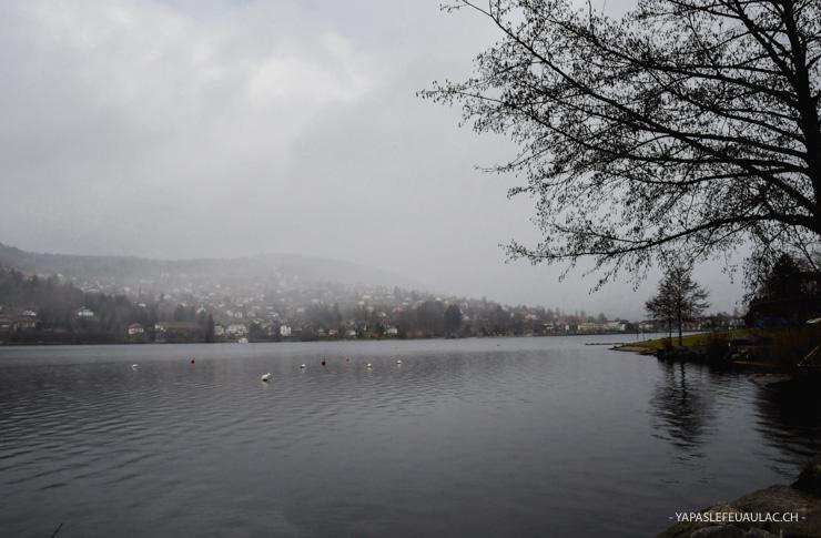 Le lac de Gérardmer dans les Vosges