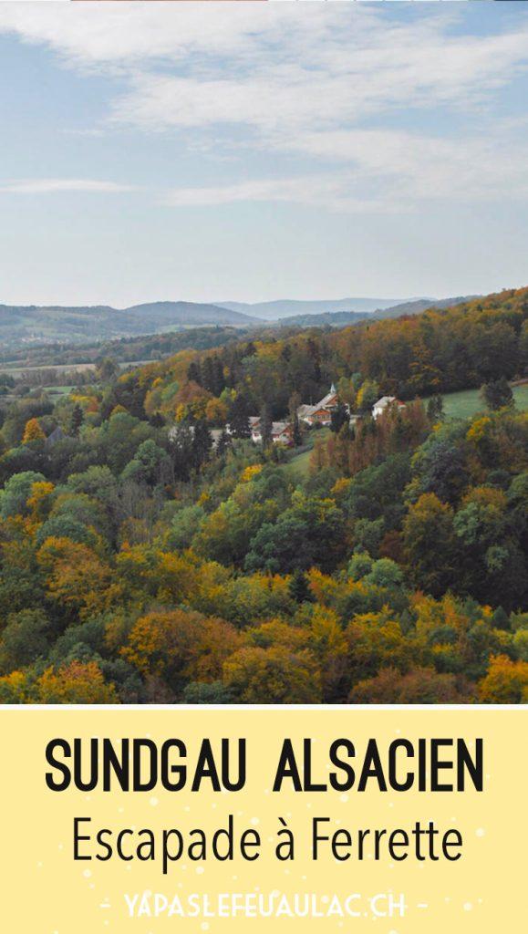 Sundgau alsacien: balade à Ferrette à la grotte des nains