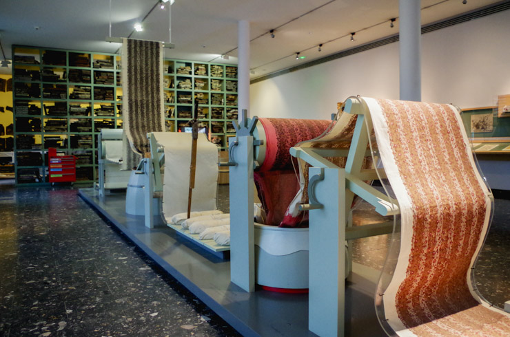 Histoire de l'impression de tissus en Alsace: les machines