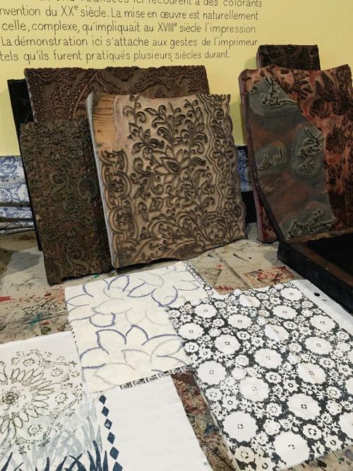 Les blocs d'impressions du Musée de l'Impression sur Etoffes à Mulhouse