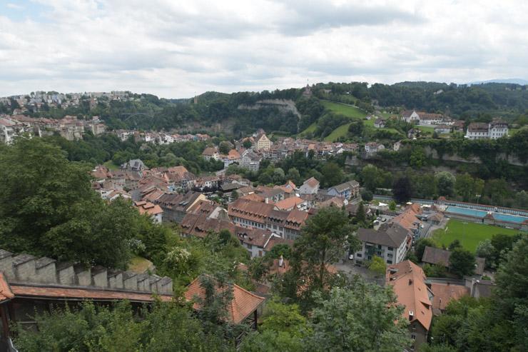 Panorama sur la ville de Fribourg - Freiburg