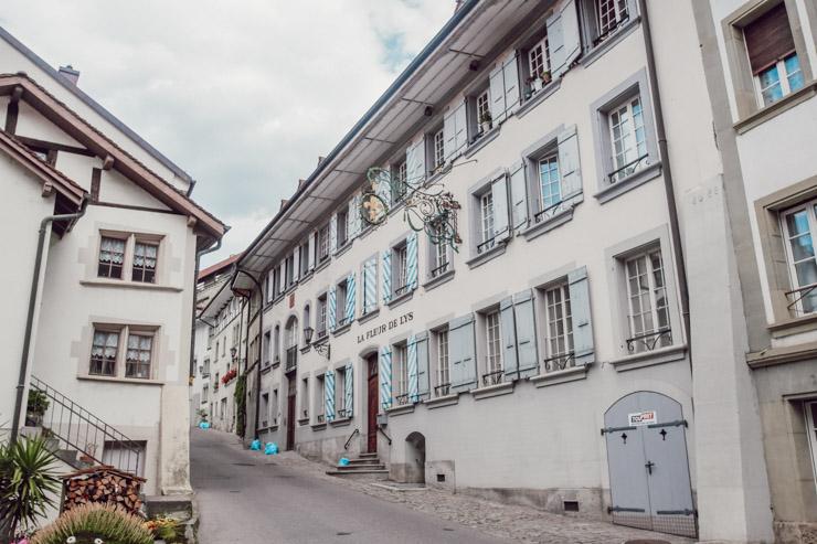 Les ruelles de la ville suisse