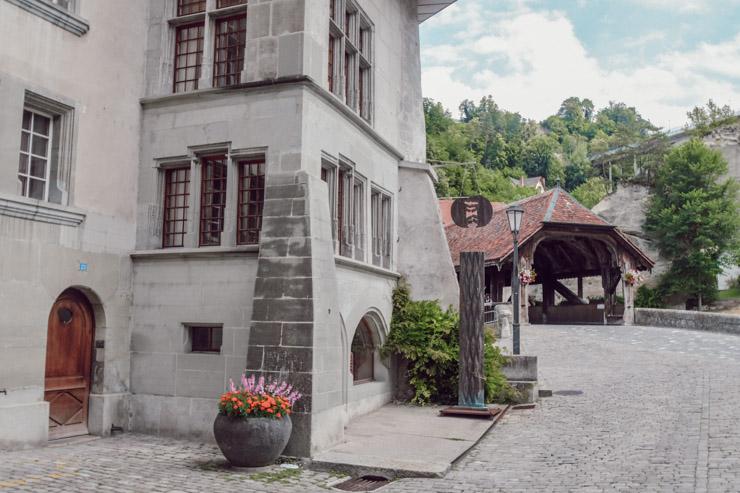 Centre historique de Fribourg vers le Pont de Berne