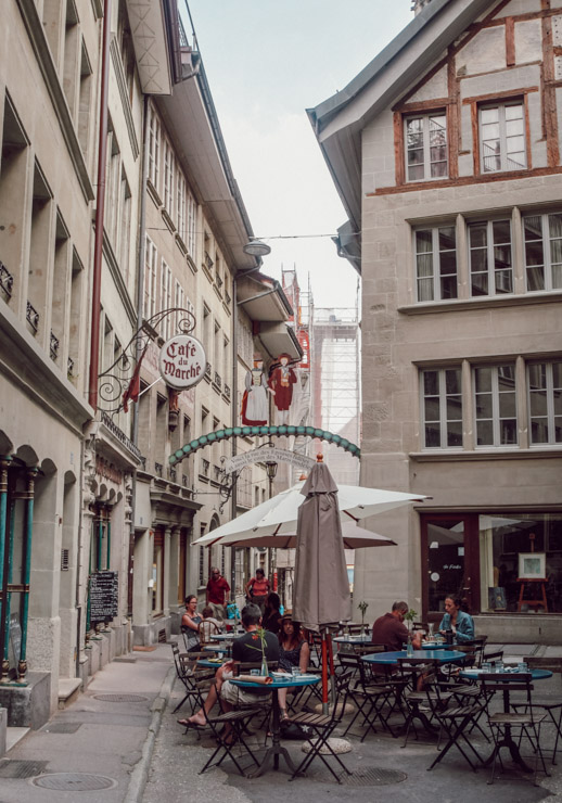 Quartier du Bourg - Balade dans le centre historique de Fribourg (Suisse)