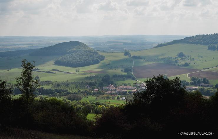 La vue du haut de La Colline de Sion dans le Saintois
