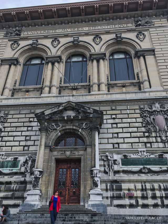 Le Palais de Rumine sur la place de la Riponne à Lausanne: entrez pour visiter ses musées