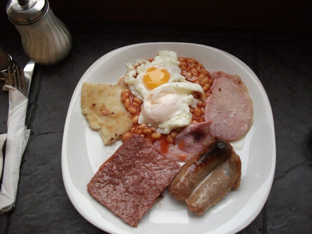 Full English breakfast - Le petit-déjeuner anglais