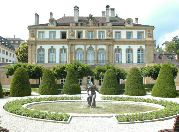Visiter Neuchâtel - le palais du Peyrou