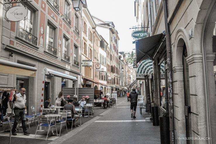 La Rue des Moulins - vieille ville de Neuchâtel