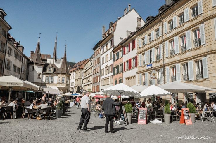 La Place du Marché - Visiter Neuchâtel