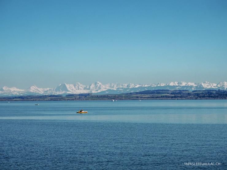 La vue depuis l'Esplanade du Mont Blanc