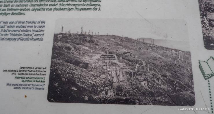 Le site de la première guerre mondiale du Hartmannswillerkopf