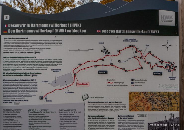 Circuit sur le Hartmannswillerkopf - balade de mémoire