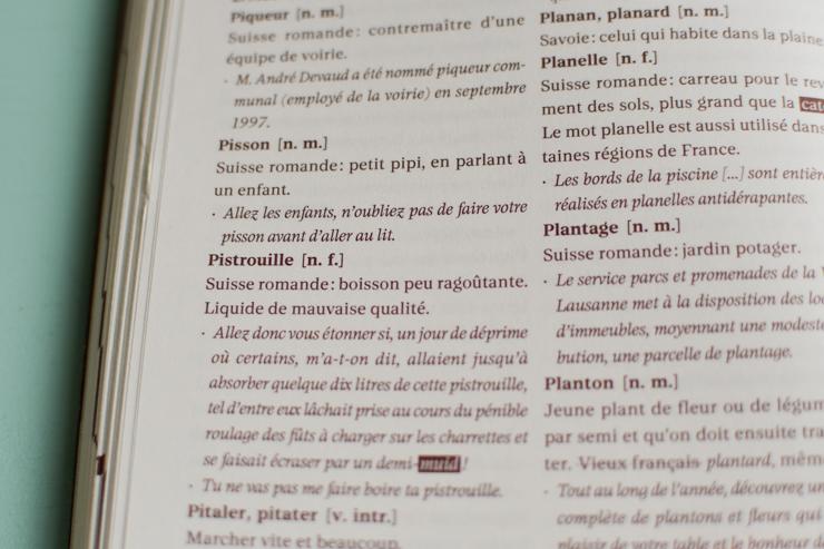 Pistrouille et pisson - mots suisses