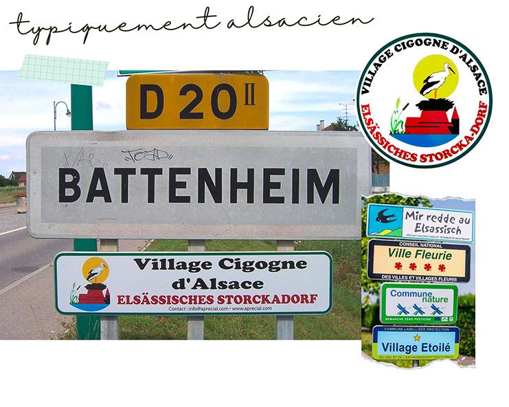 Label village cigogne - typiquement alsacien