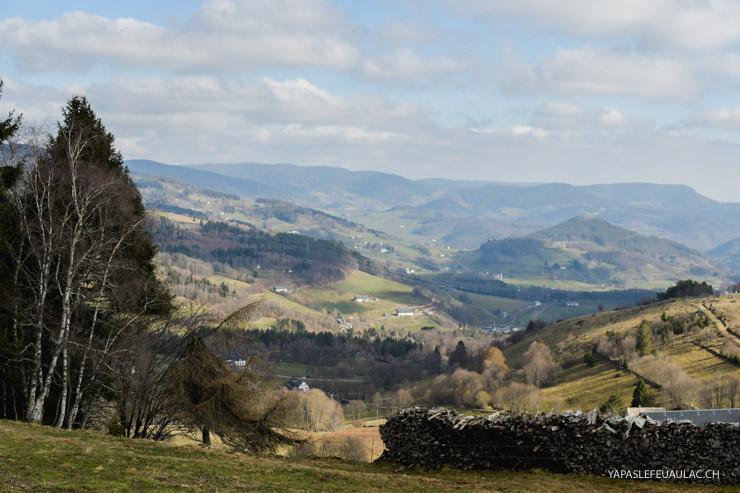 Vue sur les Vosges dans la région d'Orbey
