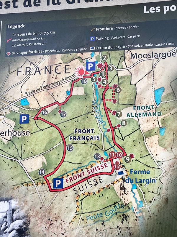 Le Circuit du kilomètre zéro du front ouest fait une boucle et se déroule à plat sur 7,5 km