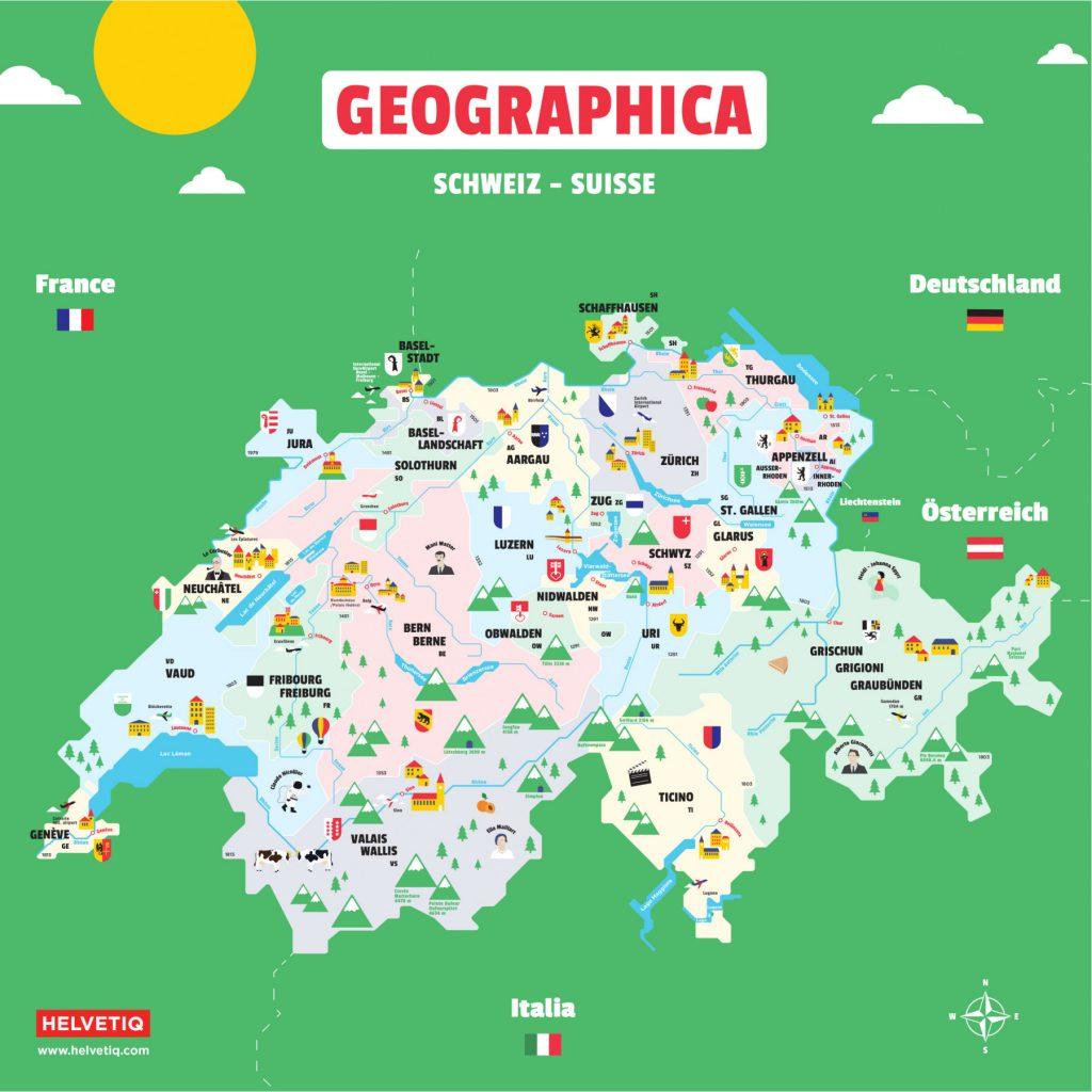 Apprendre la géographie suisse avec un jeu! Geographica chez Helvetiq