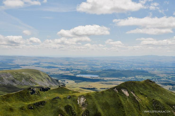 La vue depuis le Puy de Sancy en Auvergne