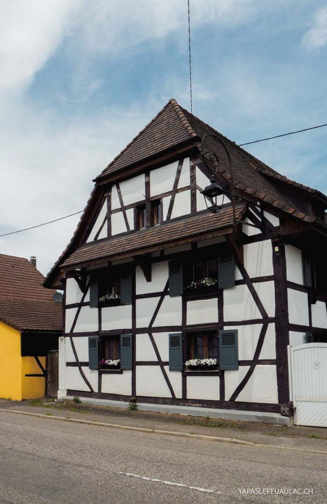 Les colombages du village de Friesen