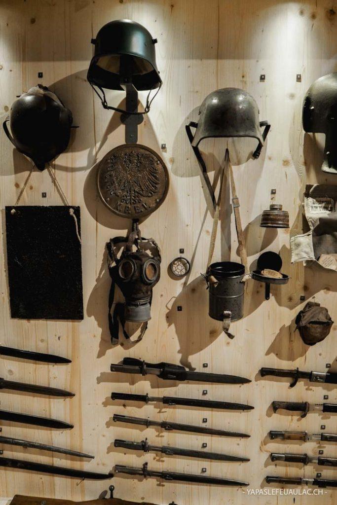 Parcours de tranchée et objets de la première guerre mondiale dans le Sundgau