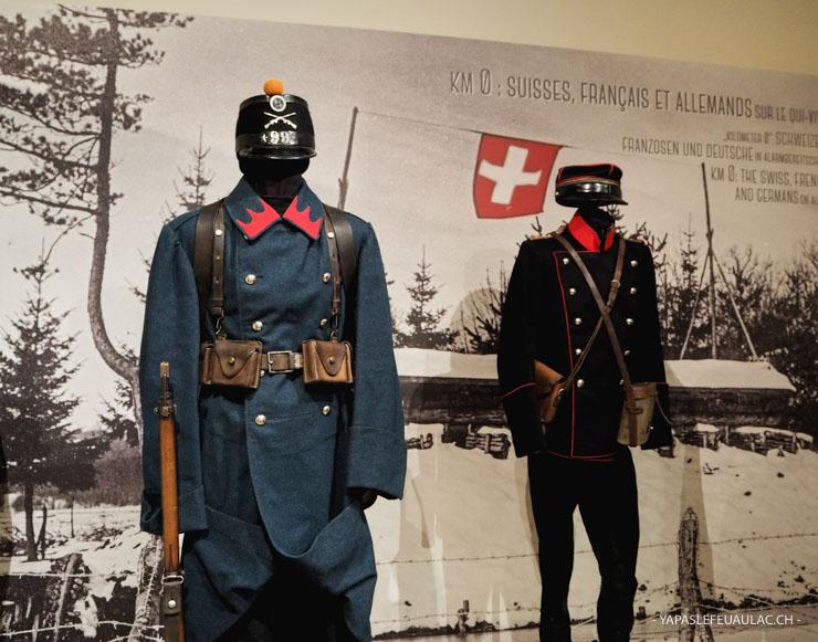Uniformes Memorial de haute Alsace à Dannemarie - musée