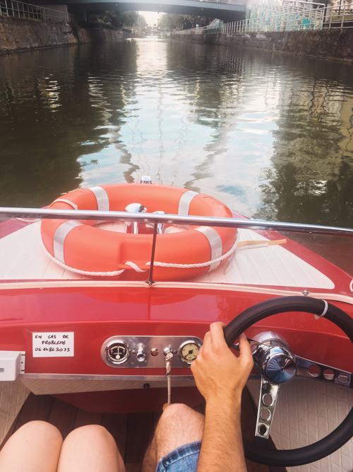 En bateau électrique sur les canaux de Mulhouse