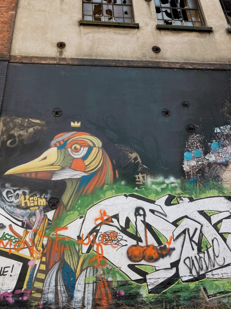 Où voir du street art à Mulhouse - usines desaffectées